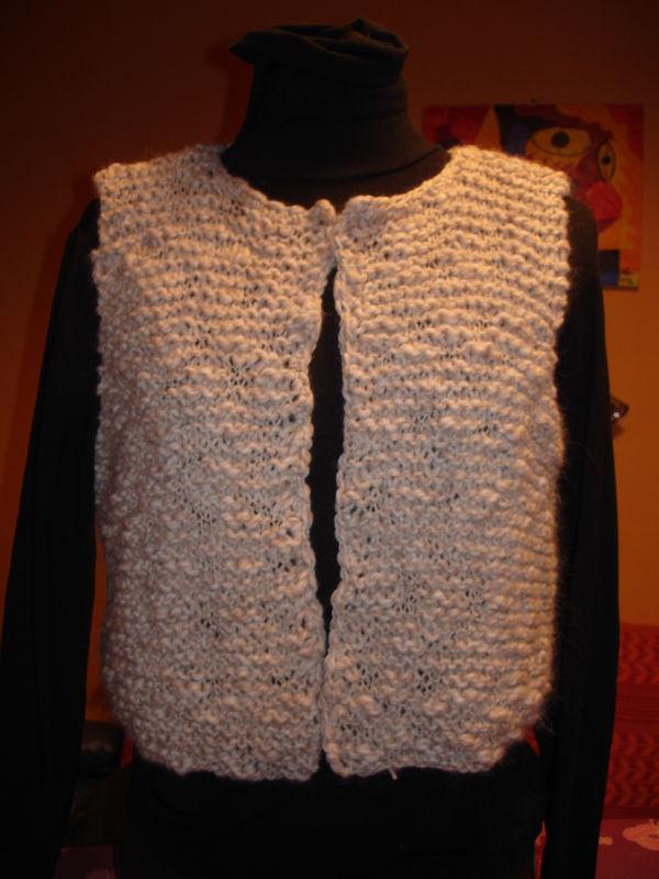 tuto tricot gilet sans manche femme