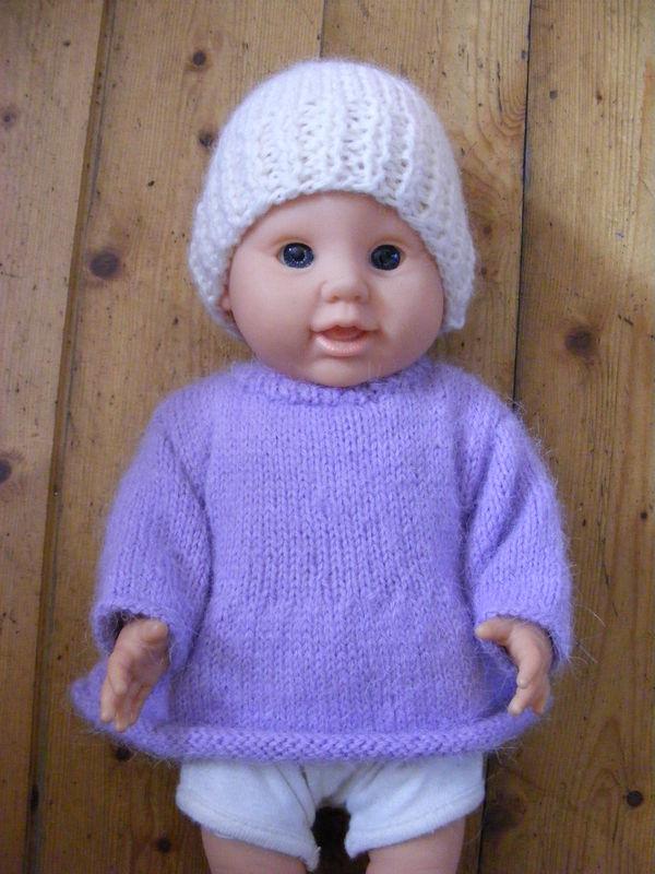 tuto tricot habits poupon 30 cm