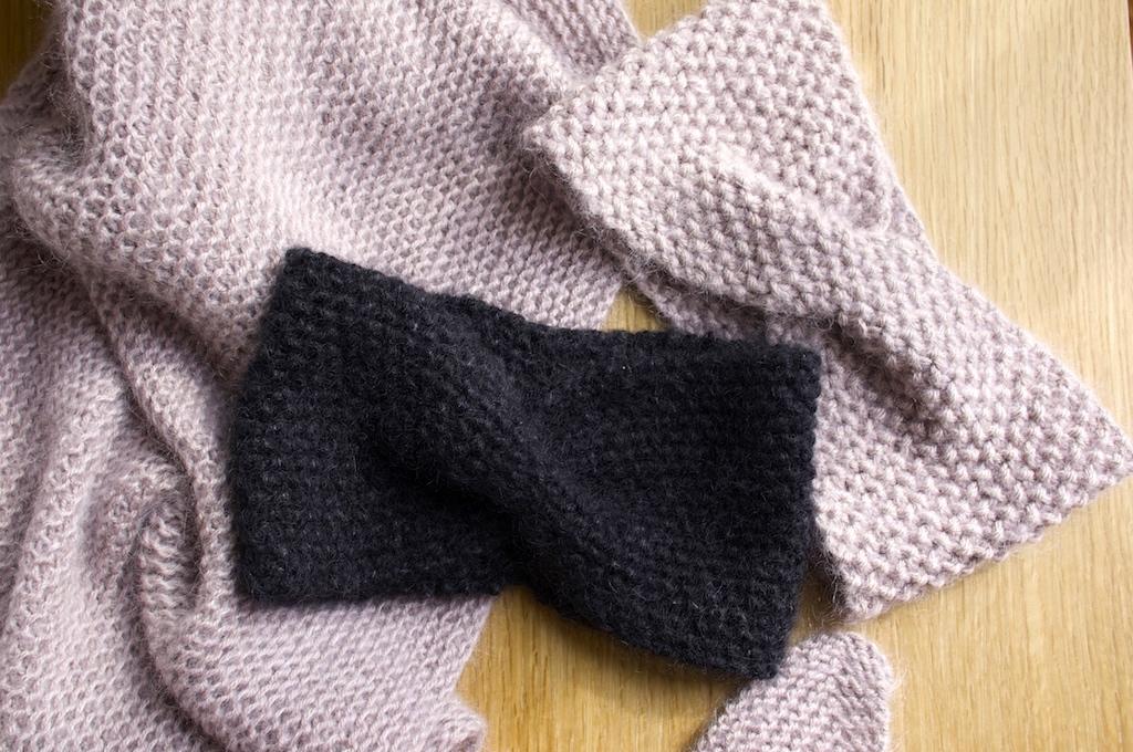 tuto tricot headband croise
