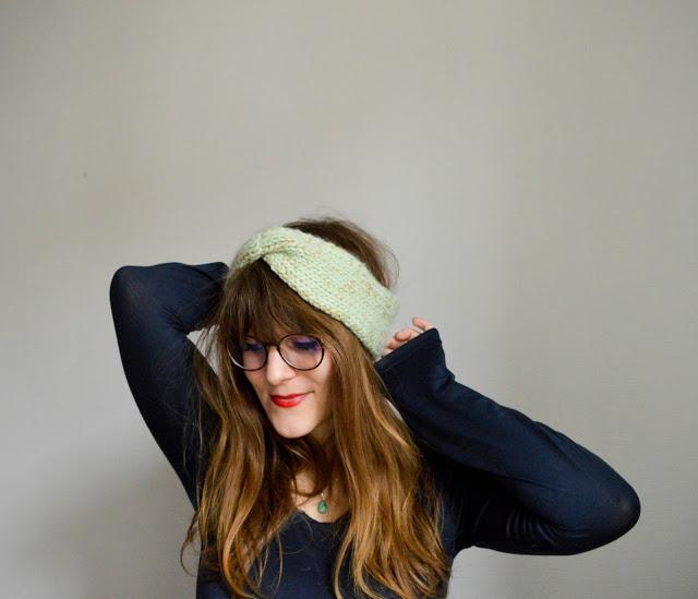 tuto tricot headband torsade