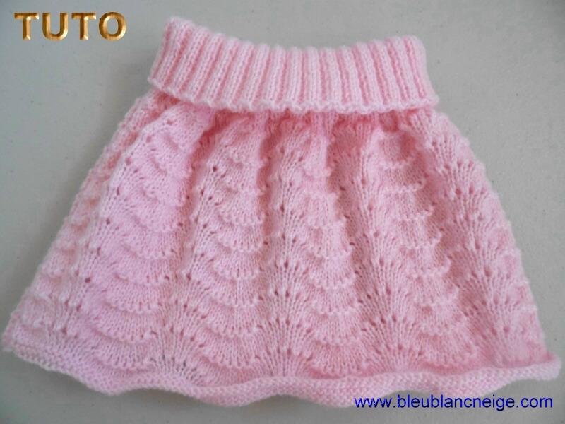 tuto tricot jupe bebe
