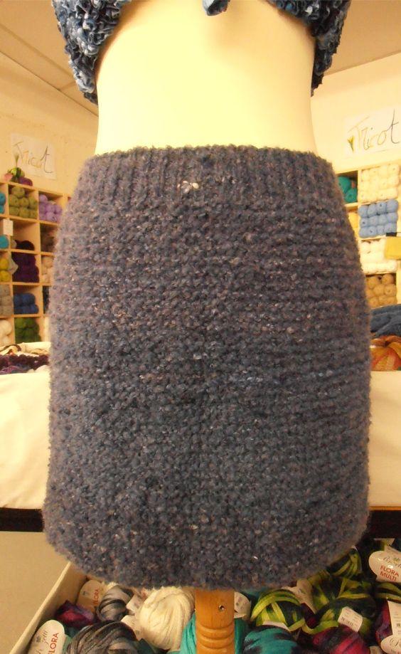 tuto tricot jupe laine