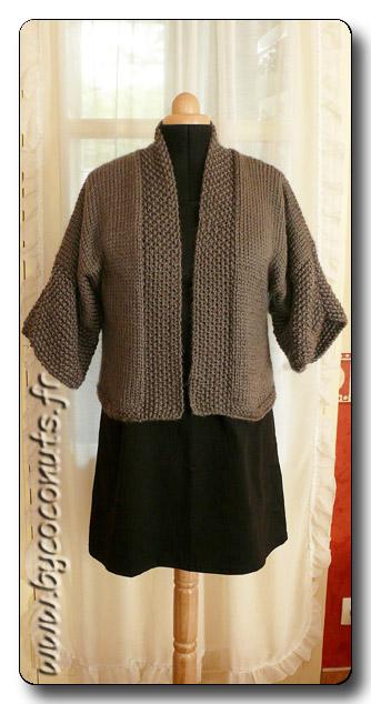 tuto tricot kimono femme