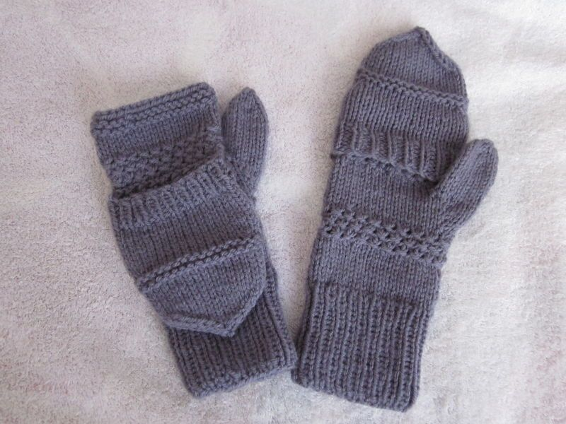 tuto tricot mitaines 2 aiguilles