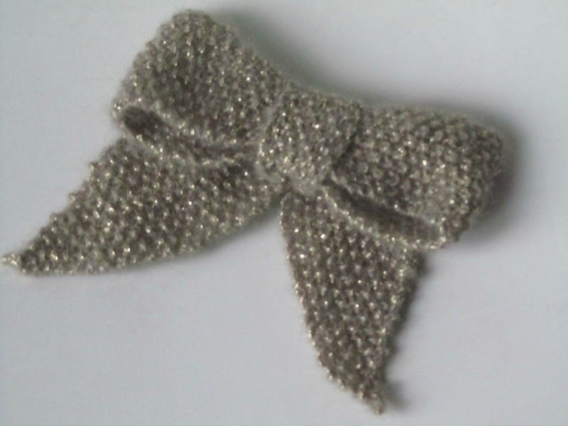tuto tricot noeud papillon
