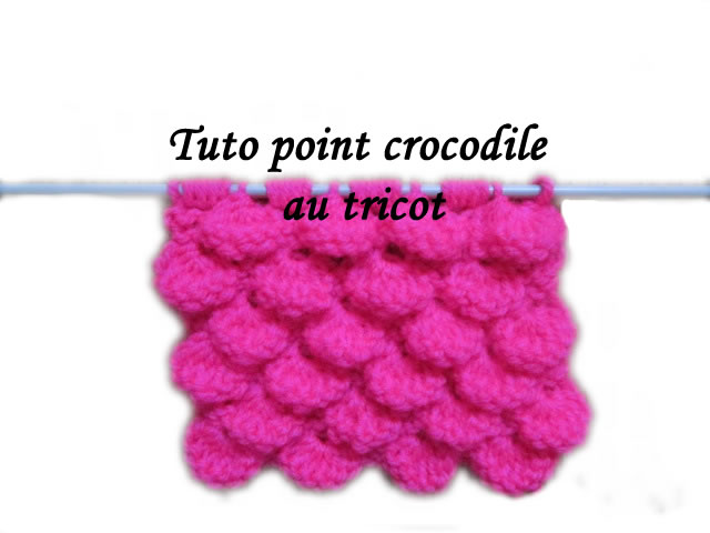 tuto tricot point