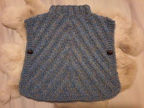 tuto tricot poncho bebe