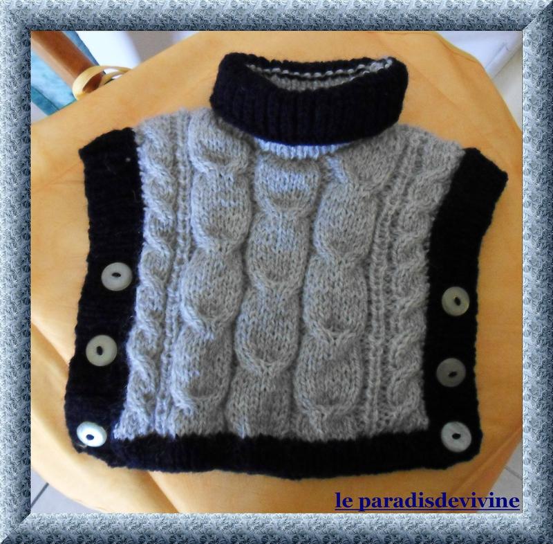 tuto tricot poncho fille