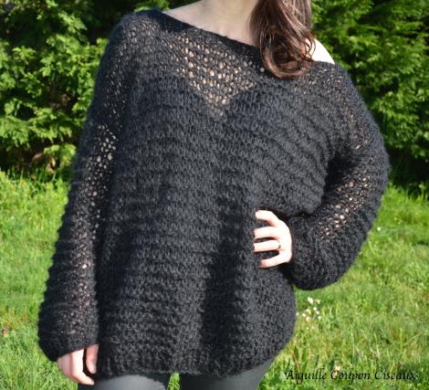 tuto tricot pull oversize