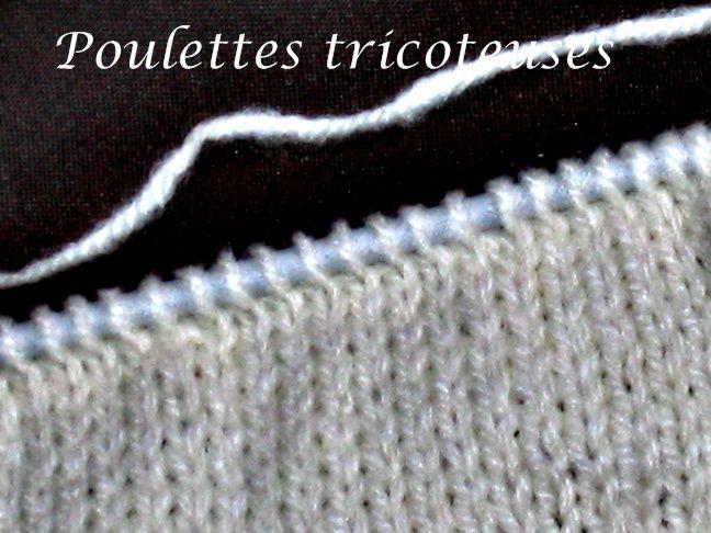 tuto tricot rang raccourci