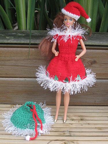 tuto tricot robe barbie