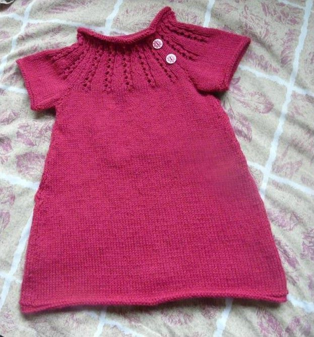 tuto tricot robe bebe