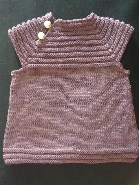 tuto tricot robe naissance