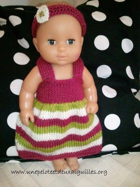 tuto tricot robe pour poupon