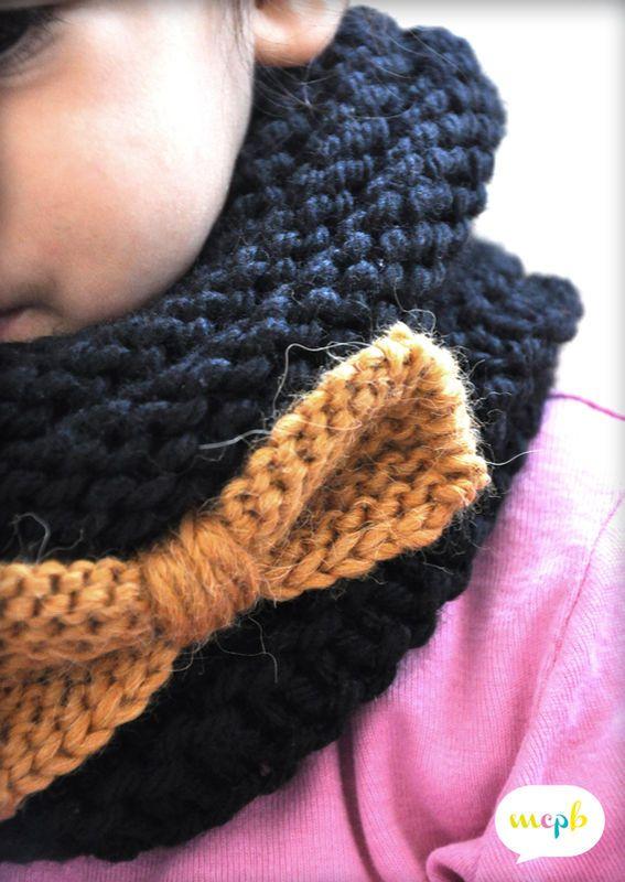 tuto tricot snood adulte
