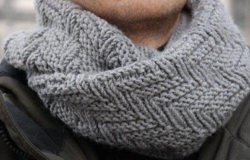 tuto tricot snood homme gratuit