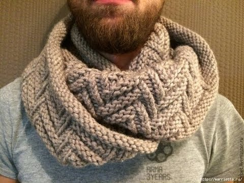 tuto tricot snood homme