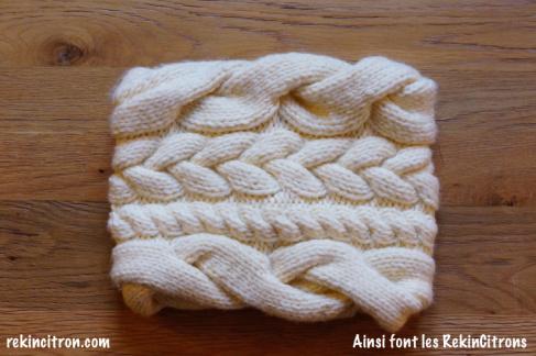tuto tricot snood torsade