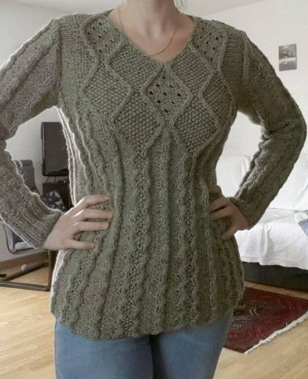 tuto tricot torsade losange
