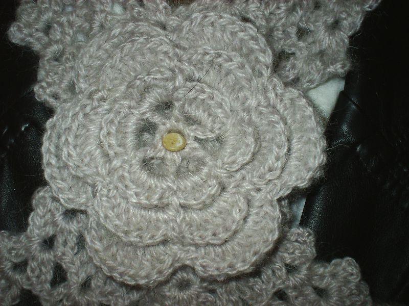 tuto tricot tour de cou feuille