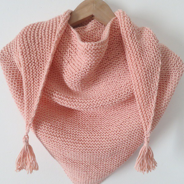 tuto tricot trendy chale