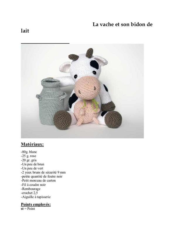 tuto tricot vache