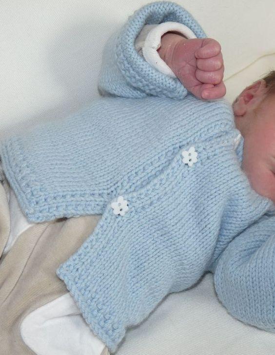 tuto tricot veste bebe