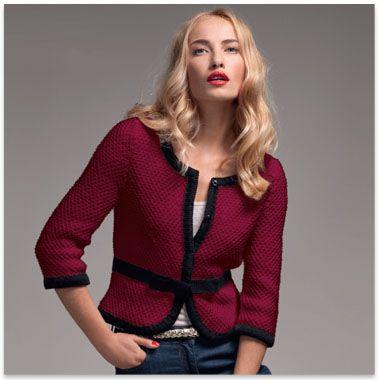 tuto tricot veste chanel