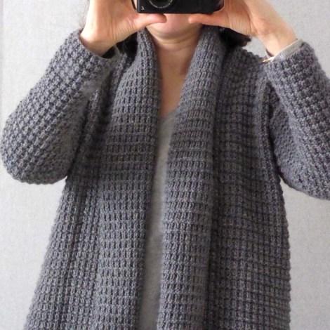 tuto tricot veste col chale