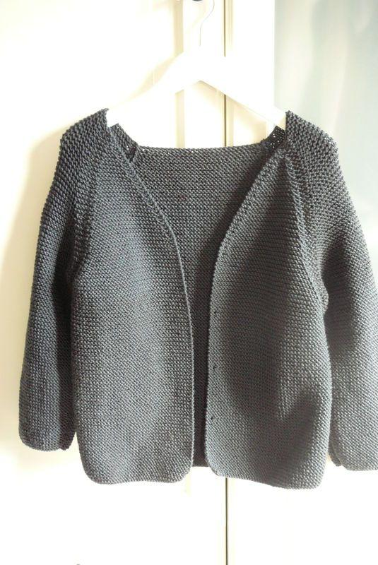 tuto tricot veste femme facile