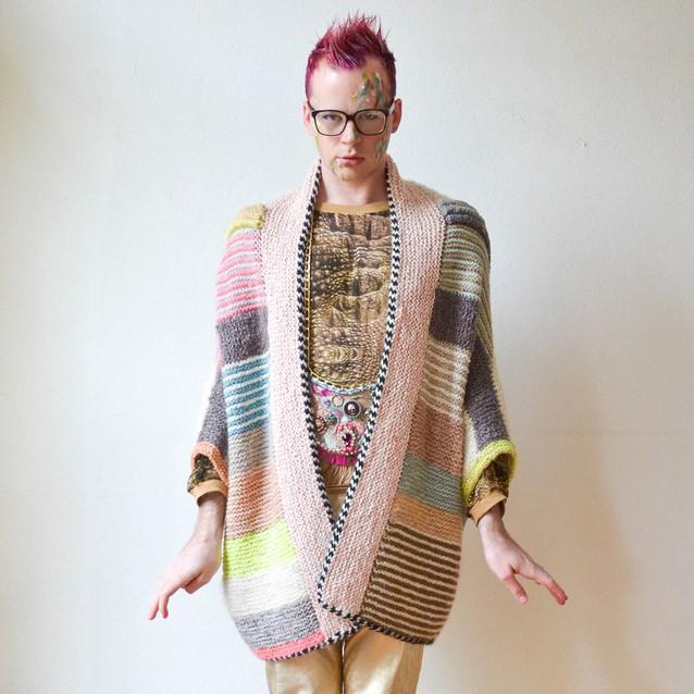 tuto tricot veste kimono