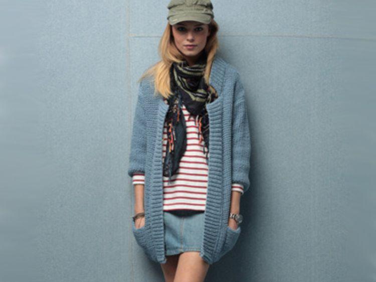 tuto tricot veste longue femme