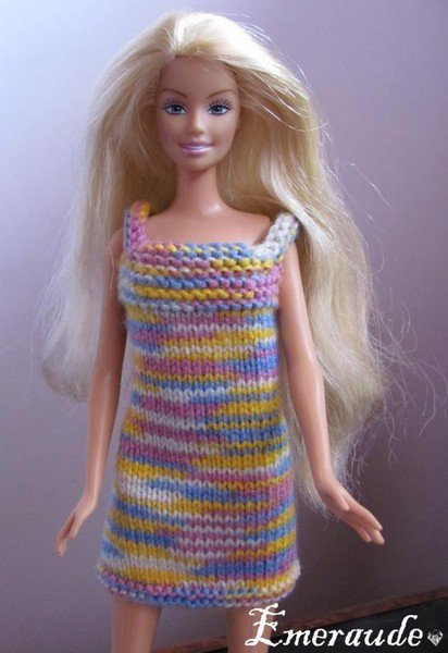 tuto tricot vetement barbie