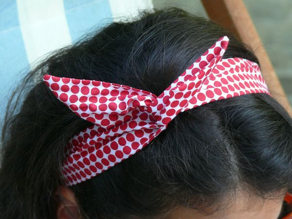 tuto couture bandeau cheveux