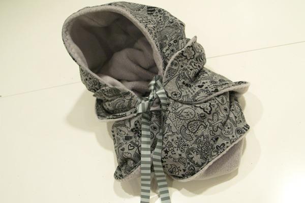 tuto couture echarpe capuche