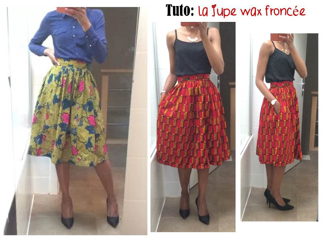 tuto couture jupe wax