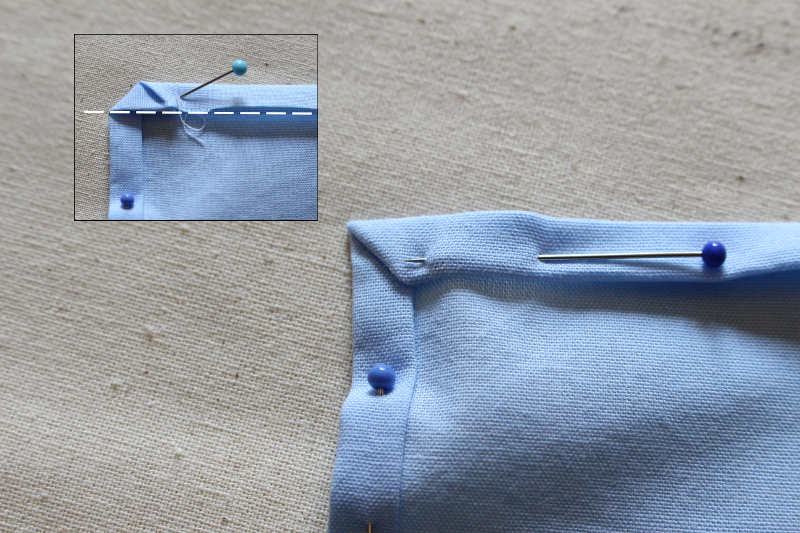 tuto couture ourlet angle