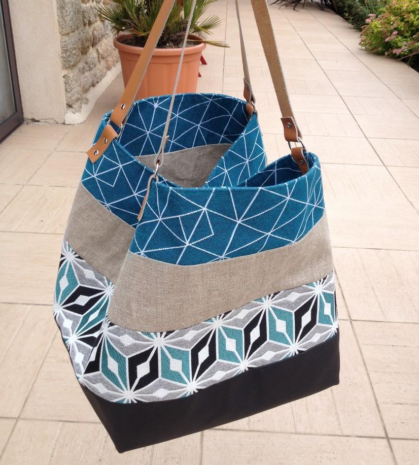 tuto couture sac cabas xxl