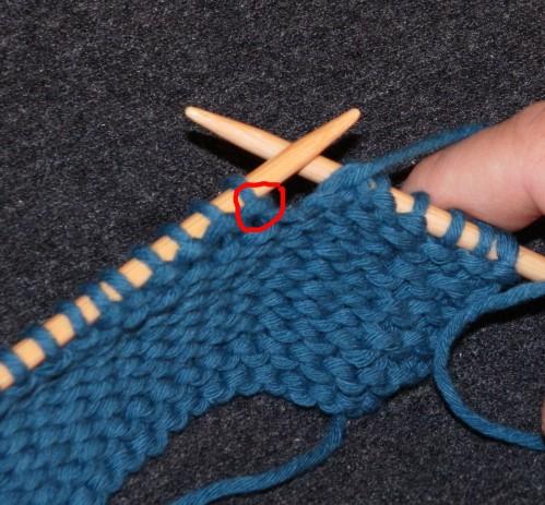 tuto tricot augmentation intercalaire point mousse