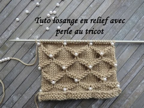 tuto tricot avec des perles