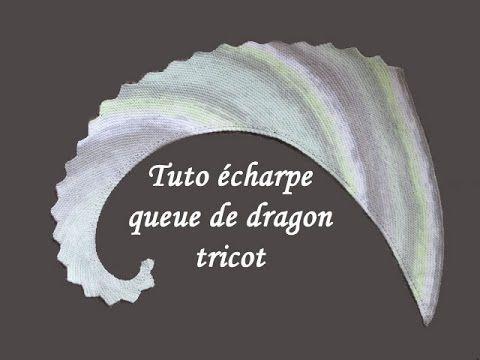 tuto tricot chale queue de dragon