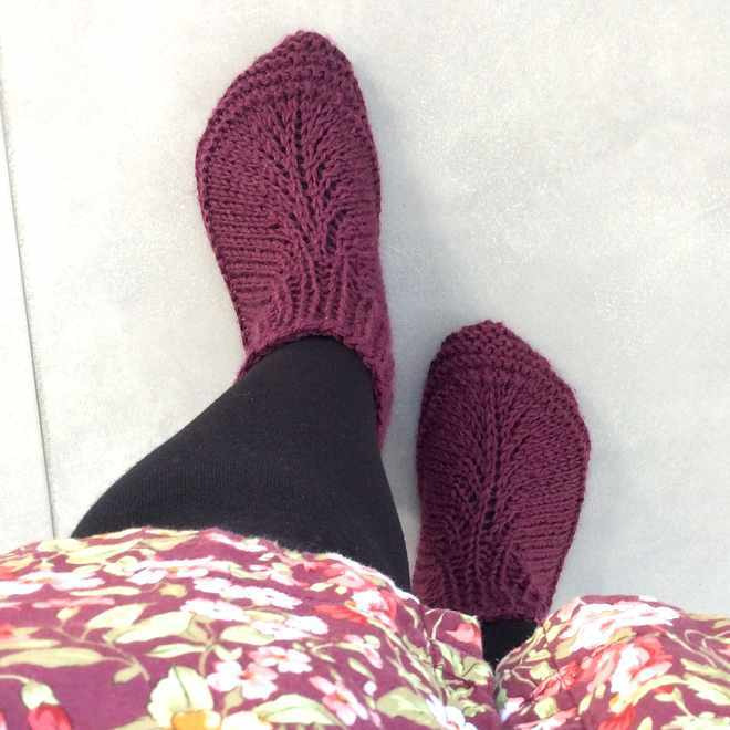 tuto tricot chausson