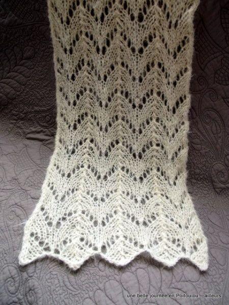 tuto tricot echarpe ajouree