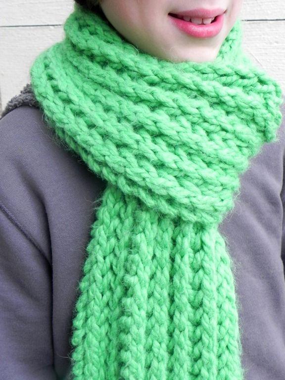 tuto tricot echarpe grosse maille