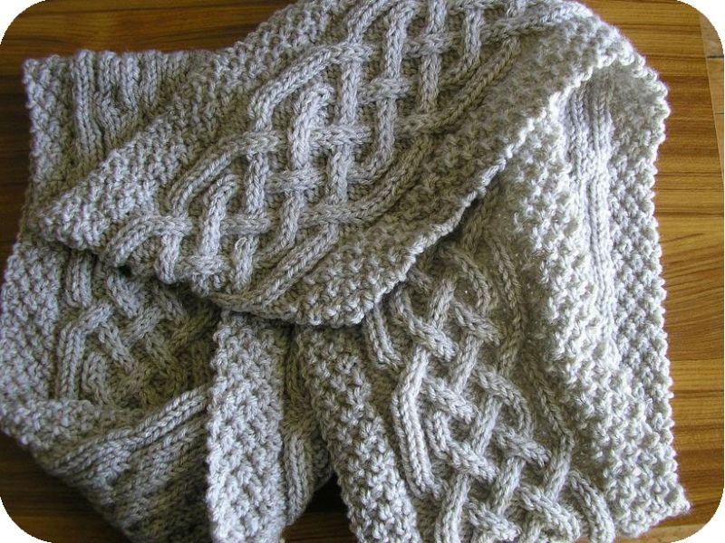 tuto tricot echarpe torsade