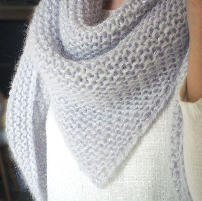 tuto tricot echarpe triangle