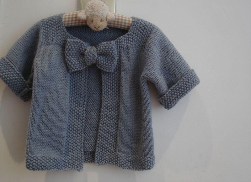 tuto tricot gilet bebe
