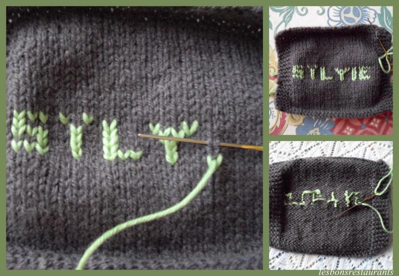 tuto tricot lettre