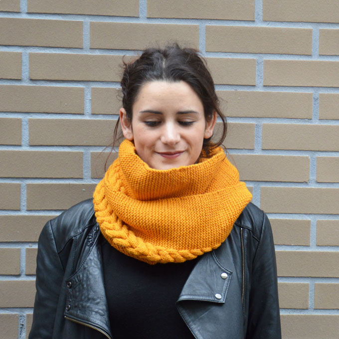 tuto tricot snood point mousse