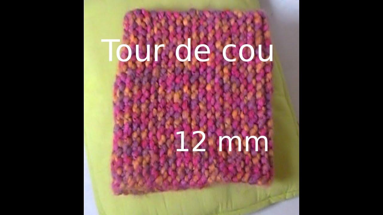 tuto tricot tour de cou